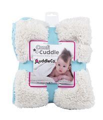CUDDLEME - CUDDLECO Super mäkká obojstranná detská deka, Tiffany blue
