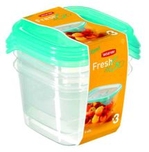 CURVER - Dózy na potraviny Fresh & Go štvorec 3 x 0,45 l