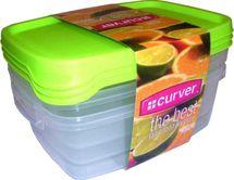 CURVER - Sada dóz na potraviny 3 x 1,2 l obdĺžnik