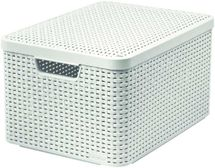 CURVER - Úložný box s vekom STYLE L, krémový