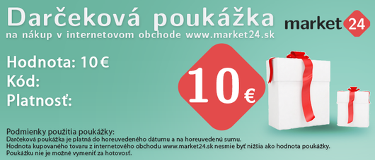 Darčeková poukážka - 10 EUR