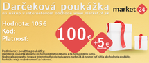 Darčeková poukážka - 100 EUR + 5 EUR Bonus