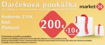 Darčeková poukážka - 200 EUR + 10 EUR Bonus