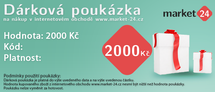 Darčeková poukážka - 2000 Kč