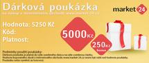 Darčeková poukážka - 5000 Kč + bonus 150 Kč