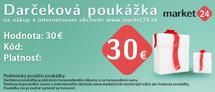 Darčeková poukážka - 30 EUR