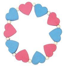 DETOA - Detský Náramok S Ružovými A Modrými Srdiečkami