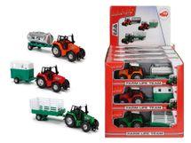 DICKIE - Traktor Kovový S Prívesom 18 Cm (3 druhy)