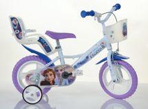"""DINO BIKES - Detský bicykel - 12"""" 124RLFZ3 so sedačkou pre bábiku a košíkom s licenciou Frozen 2"""