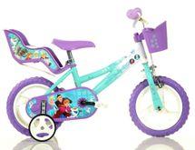 """DINO BIKES - Detský bicykel - 12"""" 126RLFZ2 so sedačkou pre bábiku a košíkom s licenciou Frozen"""