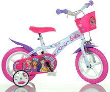 """DINO BIKES - Detský bicykel - 12"""" Dino 612GLBA s košíkom s licenciou Barbie"""