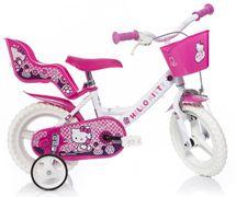 DINO BIKES - Detský bicykel 124RLHK Hello Kitty so sedačkou pre bábiku a košíkom - 12