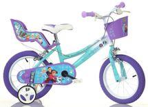 """DINO BIKES - Detský bicykel - 14"""" 146RFZ2 Frozen so sedačkou pre bábiku a košíkom"""