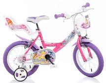 """DINO BIKES - Detský bicykel 14"""" Dino 144RWX7 Winx so sedačkou pre bábiku a košíkom"""