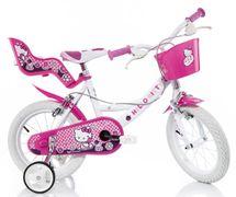 DINO BIKES - Detský bicykel 144RHK Hello Kitty so sedačkou pre bábiku a košíkom - 14