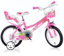 DINO BIKES - Detský bicykel 146R so sedačkou pre bábiku a košíkom - 14