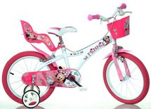 """DINO BIKES - Detský bicykel - 16"""" 616NN Minnie so sedačkou pre bábiku a košíkom"""