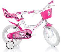 DINO BIKES - Detský bicykel 164RHK Hello Kitty so sedačkou pre bábiku a košíkom - 16