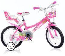 DINO BIKES - Detský bicykel 166R so sedačkou pre bábiku a košíkom - 16