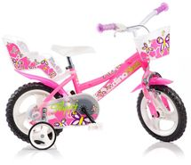 """DINO BIKES - Detský bicykel Dino 126RL so sedačkou pre bábiku a košíkom - 12"""""""