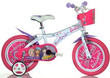 """DINO BIKES - Detský bicykel Dino - 16"""" 616BA s košíkom a licenciou Barbie"""