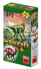 DINO - Dinosaury + Figúrka 60 dielikov