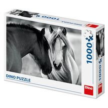 DINO - Puzzle Čiernobiele kone 1000D