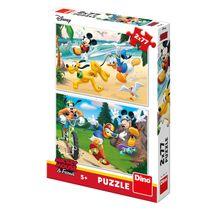 DINO - Walt Disney Mickey športuje 2x77 dielikov