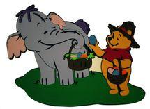 DISNEY - Sloník s Pooh s košíkom