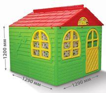 DOLONI - Domček pre deti zelený väčší