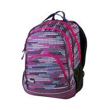 EASY - Batoh školský-športový - bodky - ružové zipsy