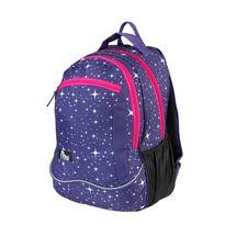 EASY - Batoh školský-športový - hviezdy - ružové zipsy