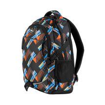 EASY - Batoh školský-športový - oranžovo modrý -čierne zipsy