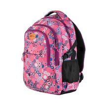 EASY - Batoh školský - športový - vzory - ružové zipsy