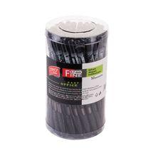 EASY - FINE - Guličkové pero čierne 0,7 mm -  50 ks