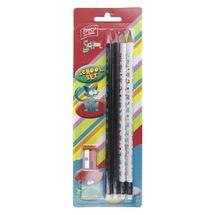 EASY - Set - 4 trojhranné ceruzky s gumou HB a strúhadlo