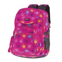 EASY - Školský batoh - športový trojkomorový, ružový s potlačou, profilovaný chrbát, 26 l