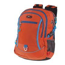 EASY - Školský batoh - športový dvojkomorový, oranžový, profilovaný chrbát, 26 l