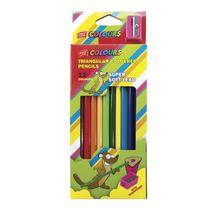 EASY - Trojhranné pastelky  12 ks so strúhadlom nelámavé