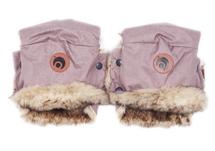 EASYGROW - Rukavice na kočík BASIC Pink Melange