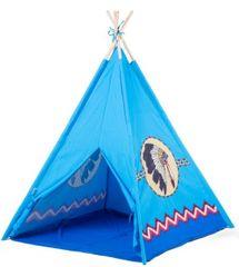 ECO TOYS - Detský indiánsky stan - modrý indián