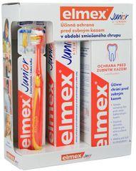 ELMEX - Junior Systém (zubná pasta 75ml, ústna voda 400ml, zubná kefka)