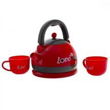 EURO BABY - Detský čajový set - červený