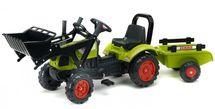 FALK - FALK Šliapací traktor 2040AM Claas s nakladačom a vlečkou