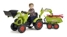 FALK - Šliapací traktor 1010WH Claas Axos s nakladačom, vlečkou a rýpadlom