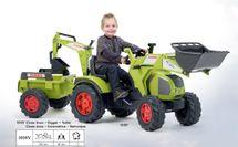 FALK - Šliapací traktor 1010Y Claas Axos s nakladačom, rýpadlom a vlečkou