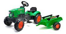 FALK - Šliapací traktor 2031AB Supercharger zelený s vlečkou