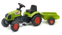 FALK - Šliapací traktor 2040A Claas Arion s vlečkou