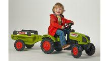 FALK - Šliapací traktor 2040B Claas Arion 410 s vlečkou