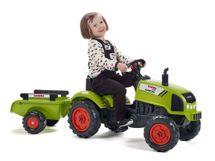 FALK - Šliapací traktor 2041C Claas Arion s vlečkou